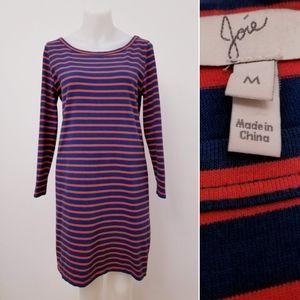 JOIE Striped long sleeve dress, M